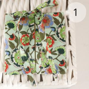 porta sacchetti per acquisti sfusi verde fiori grandi